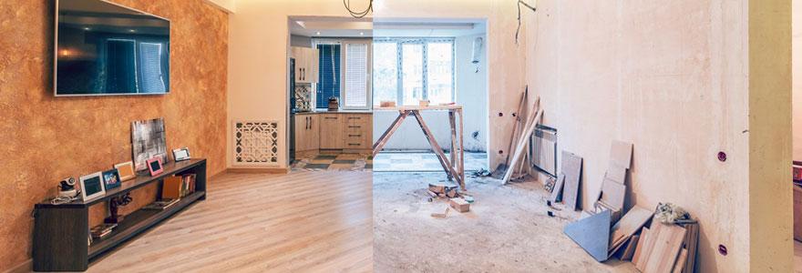 travaux de rénovation d'appartement